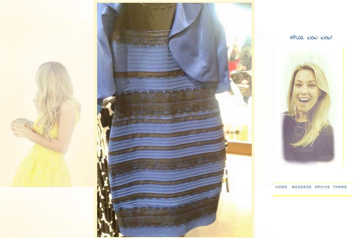jurk die iedereen anders ziet